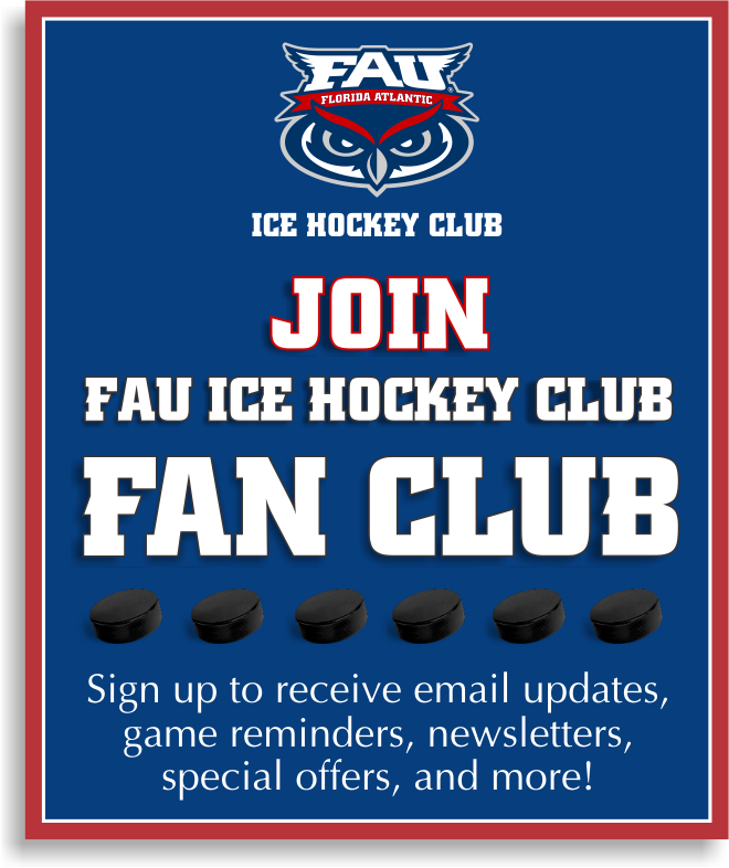 FAU Hockey Fan Club Email Sign-Up